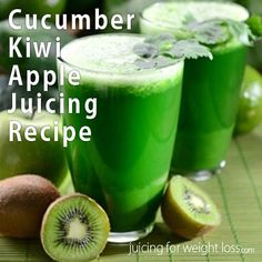Here is a fun and delicious #green #juicing #recipe that is packed full of vitamin C and the wonderful alkalizing benefits of the cucumber.