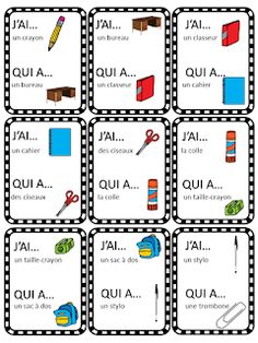 La classe de Caro: La rentrée - L'école French Flashcards, French Worksheets, Basic French Words, French Phrases, Education And Literacy, French Education, French Classroom Decor, Teaching French Immersion, French Teaching Resources