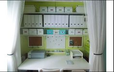 great idea this is a great office. closet office Home office design idea - Home and Garden Design Ideas office design - Home and Garden D. Tiny Home Office, Home Office Closet, Closet Desk, Le Closet, Office Nook, Home Office Organization, Small Office, Home Office Decor, Office Furniture