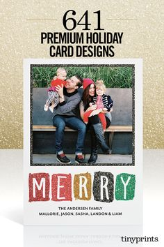Send only the best holiday cards this season with the help of Tiny Prints. From Playful and Merry to Metallic Moments, discover over 600 beautifully crafted and personalized holiday cards. Whatever your family holiday tradition may be, we have a holiday photo card to complement the occasion. Discover your style with Tiny Prints today.