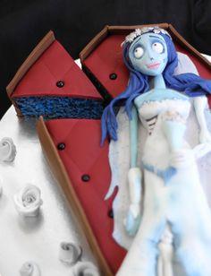 Corpse Bride Cake by SprinkleBakes.com- Sally from Nightmare Before Christmas