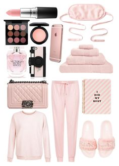 """P I N K. 💖"" by romydveen ❤ liked on Polyvore featuring Hamam, ban.do, kumi kookoon, Topshop, New Look, Puma, Chanel, Kate Spade, Victoria's Secret and MAC Cosmetics"
