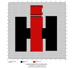 International Harvester c2c graphgan pattern crochet graph perler