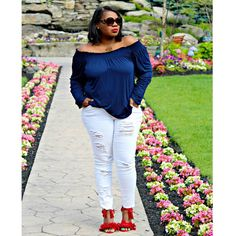 PLUS SIZE & CURVY FASHION - Americana colors done my way today on www.CurvEnvy.com