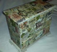 Vintage 3 Drawer Wooden Jewellery Box from Jewelz And Thingz~ Stefanie