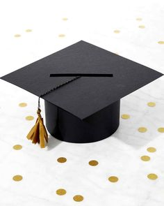 Graduation Cap Party-Card Box | Martha Stewart Living - At your graduation party, leave this themed box by the door. The guests can tuck their cards signed with best wishes and congratulations to the newly-minted graduate into the slot as they arrive.