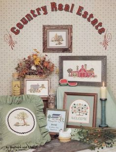 Country-Real-Estate-Barbara-Cheryl-Counted-Cross-Stitch-Pattern-Book-8-OOP