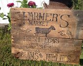 Barn Wood Farmers Market Sign