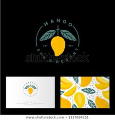 Mango Spa Resort Hotel Logo Mango Stock Vector (Royalty Free) 1117694261 Mango spa, resort or hotel logo. Mango emblem with leaves. Identity, business card with mango pattern. Hotel Logo, Packaging Design Inspiration, Logo Inspiration, Business Logo, Business Design, Mango Logo, Resort Logo, Pet Resort, Garden Care