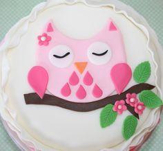 Lemon Tree Bakery: Pretty pink owl with ruffles
