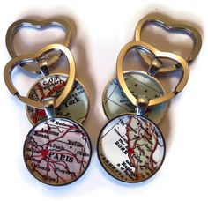 Custom keychain with Heart Key Ring by LocationInspirations, $14.95