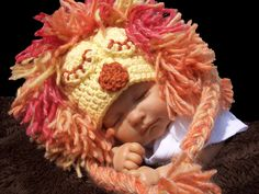 Free Lion hat crochet Pattern! <3