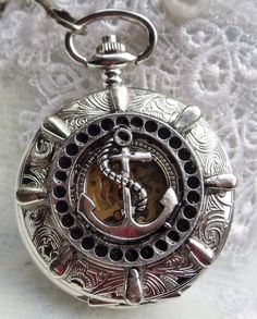 Nautical pocket watch men's pocket watch by Charsfavoritethings, $85.00