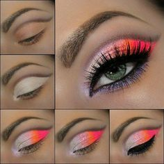 Neon Color Eye make-up | The place where you craft your beauty..