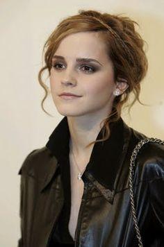 Get Emma Watson Black Leather Jacket