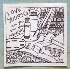 susan walker art: Love your Neighbor is EASIER than thy Self