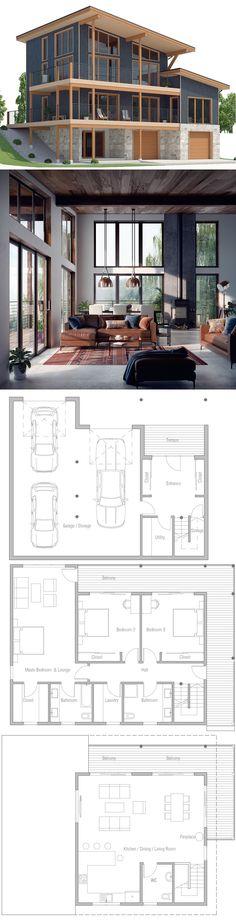 Modern House Plan, Modular Home Plan, Prefab house design