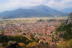 Top view of Greece in the city of Kalabaka. http://www.house2book.com