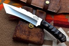 CFK USA Custom Handmade 1095 High Carbon SHEEP HORN Tactical Curved TANTO