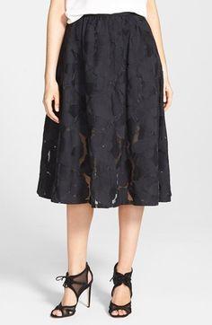 Sam Edelman Embroidered Midi Skirt | Nordstrom