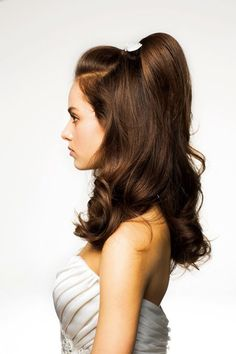 pretty hairstyles step by step Hairdos 50s Hairstyles, Headband Hairstyles, Braided Hairstyles, Wedding Hairstyles, Teenage Hairstyles, Vintage Hairstyles For Long Hair, Cabelo Pin Up, Cool Haircuts, Look Fashion