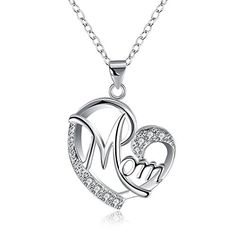 Christmas Gifts for Mom Necklace Silver Open Heart Necklace Pendant for Women Girls Mothers Day, Valentines Day Gift *** Learn more by visiting the image link. (This is an affiliate link) Love Necklace, Silver Pendant Necklace, Silver Necklaces, Heart Necklaces, Pendant Jewelry, Silver Jewelry, Mother Necklace, Silver Rings, Modern Jewelry