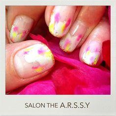 #PinkとYellow #サロンジアーシー #ネイル #ネイルアート #ネイルサロン #nail #nailart #nailsalon #design #art #illustration #岡山 #倉敷 #japan #saonthearssy