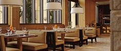 Dean's Kitchen, one of seven unique dining spaces at Fearing's Restaurant in The Ritz-Carlton, Dallas.