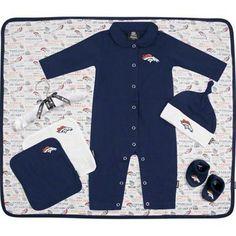 Denver Broncos 7-Piece Baby Gift Set