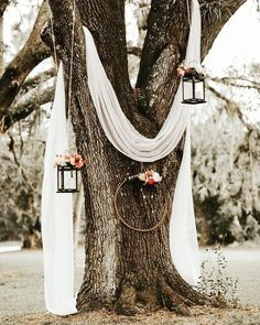 Lush Rustic Jensen Beach Wedding at The Mansion at Tuckahoe Draped white linen, hanging lanterns and floral wreaths made for a dreamy, rustic ambience at this outdoor ceremony Image from Brandi Toole Photography Spring Wedding, Dream Wedding, Wedding Day, Wedding Hacks, Wedding Rustic, Trendy Wedding, Wedding Flowers, Budget Wedding, Perfect Wedding