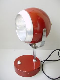 Vintage Space Age table lamp from the 70s , table lamp,desk lamp, renewed inside,reading lamp,Mid Century Modern lamp by GraceVintageDesigns on Etsy