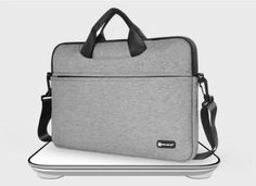 Top-loading zipper on the bag glides smoothly and allows convenient access to your laptop computer. Laptop Messenger Bags, Laptop Bag, Macbook Case, Laptop Computers, Fashion Backpack, Backpacks, Grey, Amazing, Gray