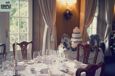 The classic dining room where the meal will take place. Weddings at Rathsallagh House Hotel by Couple Photography.
