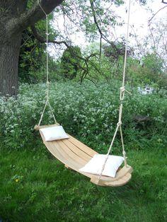 Steam-bent English Oak Hertfordshire Hammock for a Sunday afternoon nap ~ lovely! #MyVeganJournal