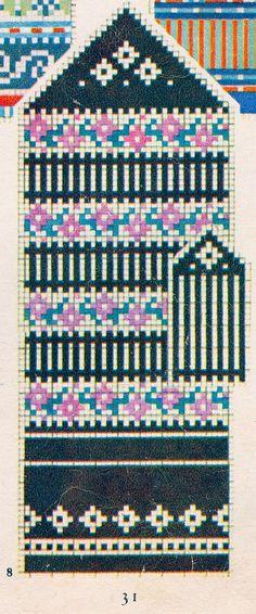 """1957. aasta """"Käsitöö Albumist"""" leiab hunnituid musterid: moes on kõik rahvusromantiline. Kirkad värvid püüavad pilku ning küllap nii mõnigi käsitööhuviline leiab endale siit midagi, mis peagi ka käsi soojendama hakkab! Knitted Mittens Pattern, Knit Mittens, Knitting Socks, Hand Knitting, Mitten Gloves, Knitted Hats, Knitting Charts, Knitting Stitches, Knitting Patterns"""