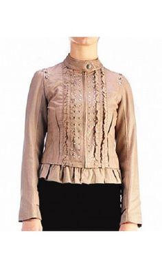 Studded Ruffle Jacket - Apostolic Clothing