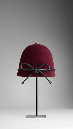 Burberry Leather Bow Cloche Hat