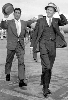 Frank Sinatra & Dean Martin, 2 of the coolest guys to ever walk the planet.
