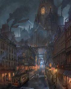 Steampunk Tendencies | steampunktendencies:   Lyonesse City by...