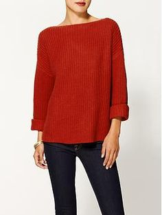 Vince Ribbed Boatneck Sweater | Piperlime