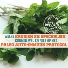 Kruiden en specerijen op het paleo auto-immuun protocol | www.evawitsel.nl Low Carb Keto, Low Fodmap, Allergies, Herbs, Vegetables, Leaky Gut, Food, Veggies, Herb