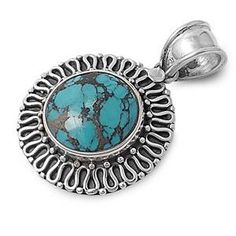 925 Sterling Silver Genuine Turquoise Pendant (Jewelry) http://www.amazon.com/dp/B005XENZGE/?tag=pindemons-20 B005XENZGE