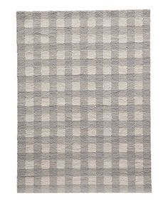 Loving this Gray Gingham Hooked Rug on #zulily! #zulilyfinds