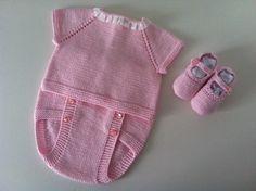 Jersey manga corta, cubrepañal y merceditas - rosa