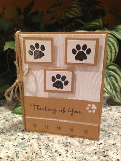 Pet Sympathy Card on Etsy, $2.00