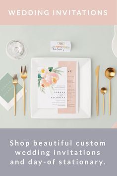 Stationary Shop, Wedding Stationary, Custom Invitations, Bridesmaid Gifts, Wedding Accessories, Save The Date, Perfect Wedding, Wedding Ceremony, Dreaming Of You
