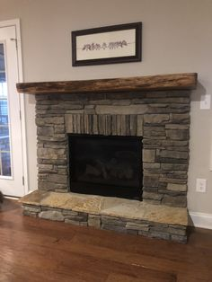 This couple wanted something a little more refined yet rustic. They chose an ambrosia spalted maple mantel finished in our all natural No VOCs oil. This oil highlights the natural wood and its beauty. Another happy customer. French Rustic Decor, Rustic Fireplace Mantels, Wood Mantels, Diy Rustic Decor, Home Fireplace, Fireplace Design, Fireplace Ideas, Stone Fireplace Makeover, Fireplace Update