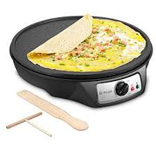 Electric Crepe Maker, iSiLER Nonstick Electric Pancakes Maker Griddle, 12 inches Electric Crepe Pan with Batter Sprea. Banana Crepes, Pancake Maker, Crepe Maker, Crepe Pan, How To Make Crepe, Pizza And More, Crepe Recipes, Cake Makers, Tortilla