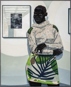Kerry James Marshall, Untitled (Gallery), 2016, acrylic on PVC panel, 60 ½ x 48 ½ in.COURTESY CARNEGIE MUSEUM OF ART