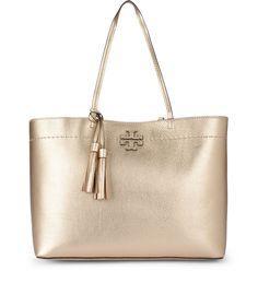 7f26ac639b469 TORY BURCH MCGRAW GOLDEN METAL SHOPPER.  toryburch  bags  hand bags  lining